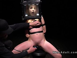 Sub with head in mirror box fingered