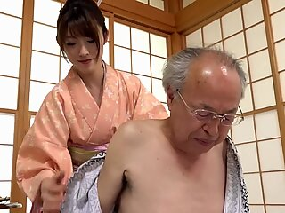 A kind asian girl loves taking care of old people and sometimes gives a blowjob.