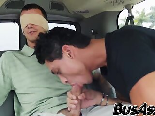 Cock hungry twink bare fucked by a tricked straight guy