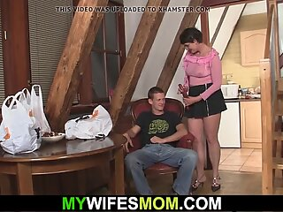 Son in law fucks her old hairy cunt and gets busted
