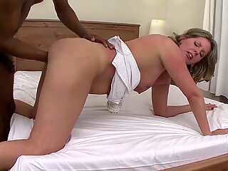 stepmom rough fisted by her black toyboy