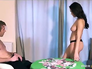 Valentina Nappi turns a game of strip poker turns into a crazy fuck