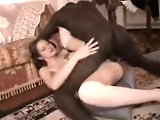 Homemade video of Italian slut fucked by black dick