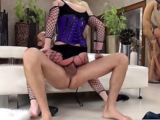 Hot blonde gets fucked hard by italian dude