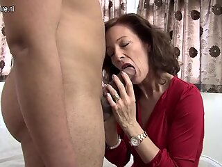 Sexy British lady enjoys her toyboy s big cock
