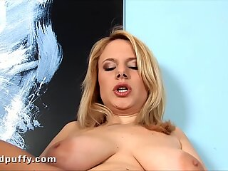 Getting off her chubby blonde girlfriendReport this video