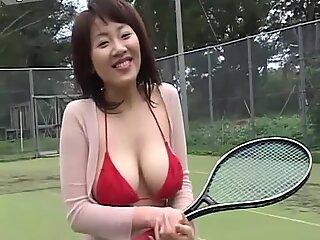Kinky tennis player Harumi Nemoto returns home all sweaty