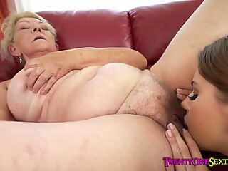 Granny Eats a Tight Teen Pussy