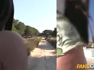 Fake Cop Policeman has outdoor anal sex with Italian slut