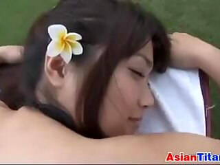 Asian Beauty Gets A Massage