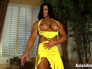 Aziani metal Angela Salvango chick bodybuilder naked