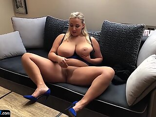 European bigtits amateur fingers her pussy
