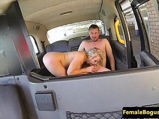 Bigtitted london cabbie fucks and cocksucks