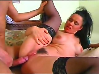 Huge facial   anal for italian girl in stockings
