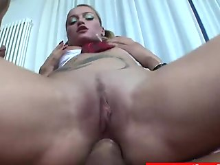 Italian shemales spoil guy on threesome