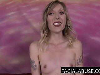 thin blonde mummy deepthroat two dicks