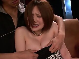 Sexy Ruri Haruka bent over and fucked doggie-style until she is soaking wet