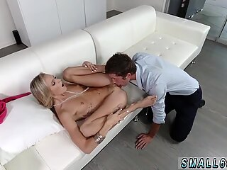 Blonde milf restaurant and hot footjob Tiniest In The Agency