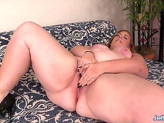 Pretty Plumper Ginger Rose Sucks and Fucks a Long Dick