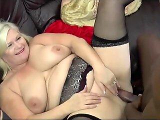 Blonde grandma ass fucked