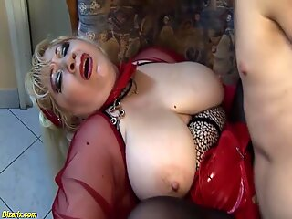 busty mom deep fisted by stepson