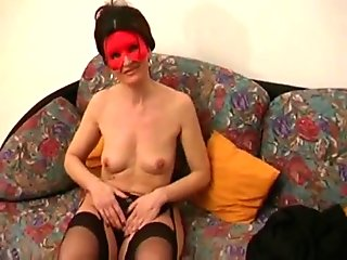 Horny masked amateur