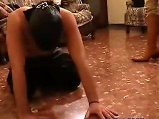 Brutal Italian Girl  Beats Sub bdsm bondage slave femdom domination