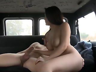 Valentina Nappi gets fucked in a van in evry positions
