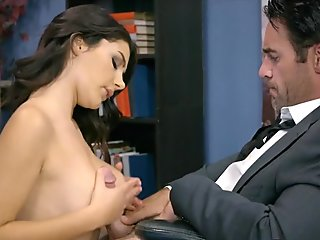 Italian Babe Sucks Cock on the Job