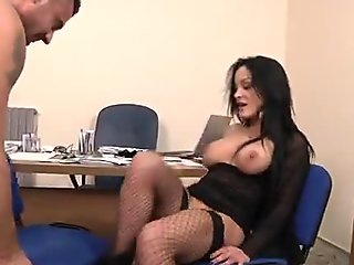 Italian Mila analfucked in stockings