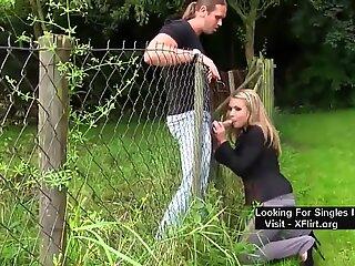 blond first-timer Swiss superslut Fucked Outdoor