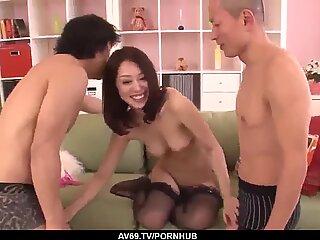 Hot threesome cam sex by top doll An Yabuki