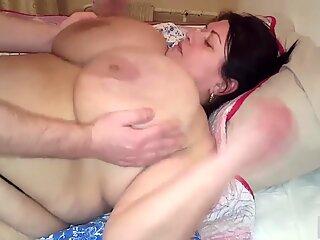 Gigantic tits fucking
