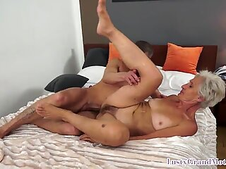 Fit granny fucked by younger man