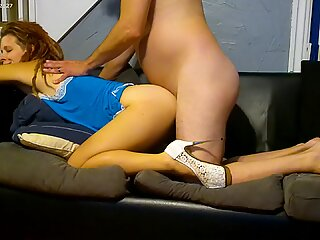 Bridesmaid Fucked before her Sisters Wedding by best Man. High Heels, I came Deep inside Her.