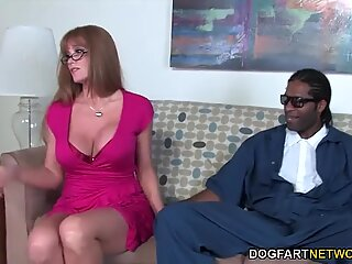 Busty Mom Darla Crane Takes BBC In Front Of Her Son