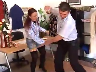 The saleswoman is too sexy and a guy decides to fuck her