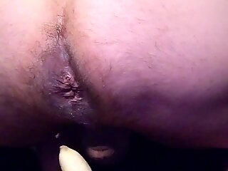 Tight Hairy Ass Forced With Food