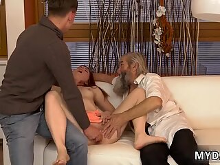 Old young creampie Unexpected experience with an older gentleman