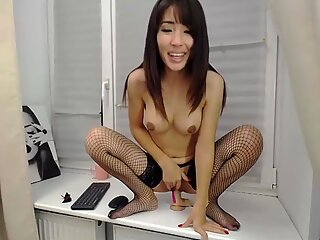 Hot Asian milf loves being watched while she rides a big cock