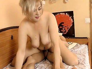 Mature milf jumps on the cock of a young boy Her acc bit.do/eTXen - Alina Li