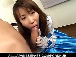 Hirai Chisato drinks after handjob episode