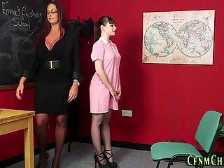 Cfnm milf teaches teen in uniform