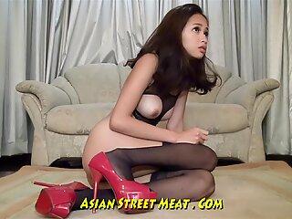 calm liking Asian Bum biotch