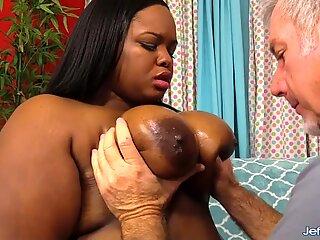 Black BBW Olivia Leigh Interracial Anal