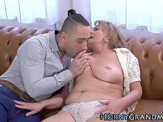 Horny grandma fingered