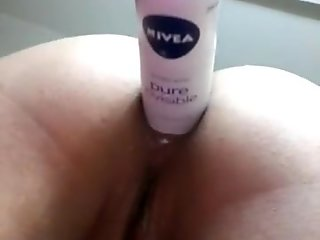 Pushing A Deodorant Bottle Out Of My Ass