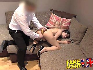 FakeAgentUK Cute Italian takes a fruity anal fucking