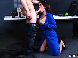 Capri Cavanni sneaks out of office party  deepthroats bigdick