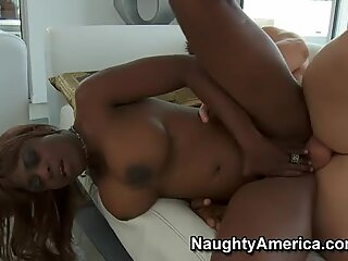 Black cunt gets thrusted by white cock in a missionary position